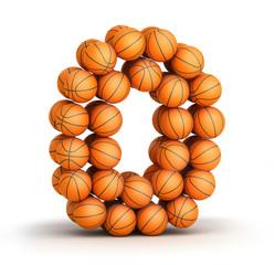 Number 0 basketball