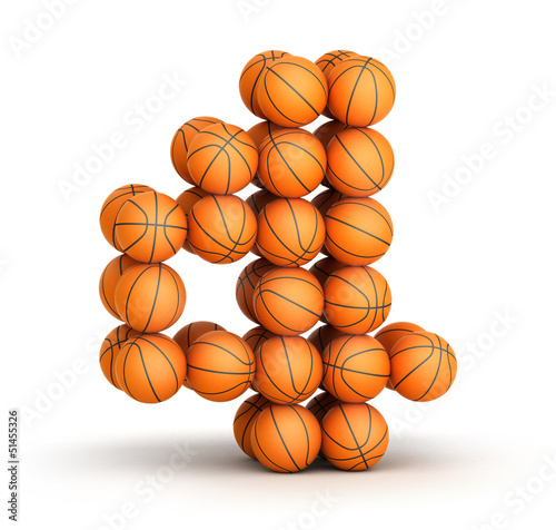 Number 4 basketball