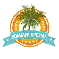 Reise-Button: Sommer-Spezial
