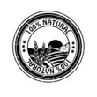 Vector natural rubber stamp, pure nature