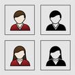 male female avatar icons - user, member