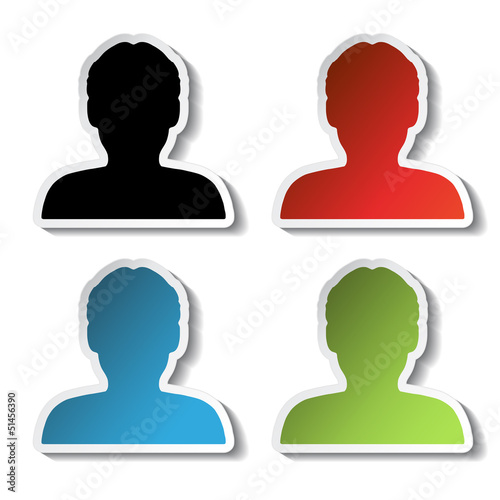vector avatar icons, stickers - human, user, member
