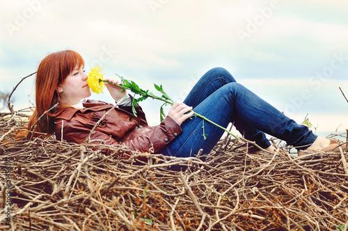 romantic redhead  girl