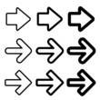black arrow silhouettes