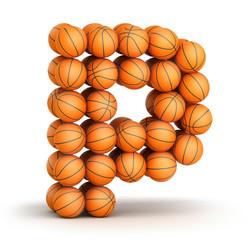 Letter P   basketball
