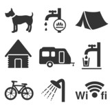 vector camping icons - set 1
