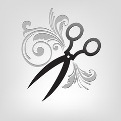 scissors. stylization.
