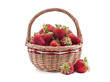 Basket with strawberry