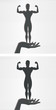 Hand and Female Bodybuilder