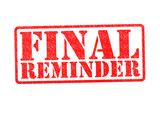 FINAL REMINDER Rubber Stamp