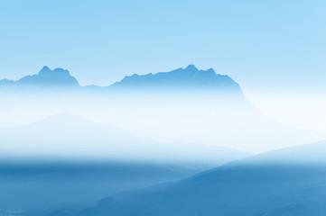 Blick zum Säntis (CH), herbstliche Nebelschwaden, Wetter