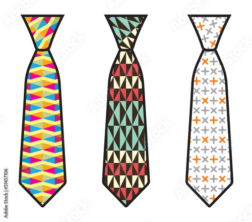 Vector illustration of a necktie