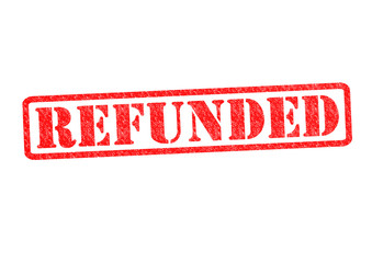 REFUNDED Rubber Stamp