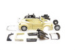 Bright image of toy car parts isolated