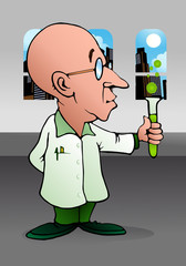 bald scientist experiment