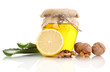 Healthy ingredients for strengthening immunity isolated on