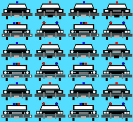 police car background