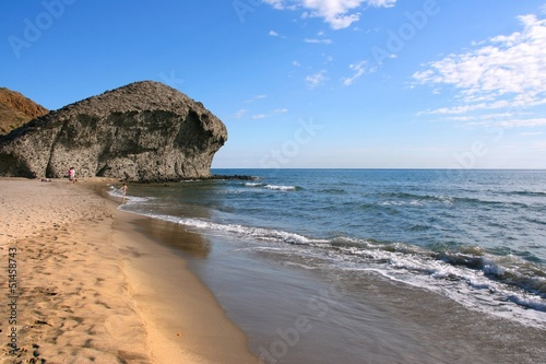 Spain - Playa Monsul beach in Cabo de Gata Natural Park