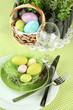 Easter table setting, close up