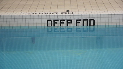 Deep end of the pool. No diving.