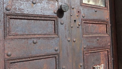 Rusty Mausoleum Door