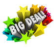 Big Deal Words Stars Fireworks Important News Sale