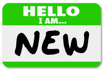 Hello I am New Nametag Sticker Rookie Trainee