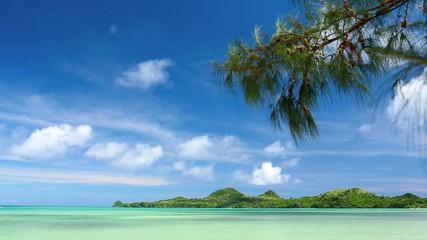 南国の海と島