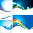 Collection Of Abstract Wave De...