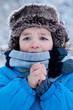 Portrait of boy in winter time