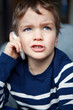 Portrait of boy with mobile phone