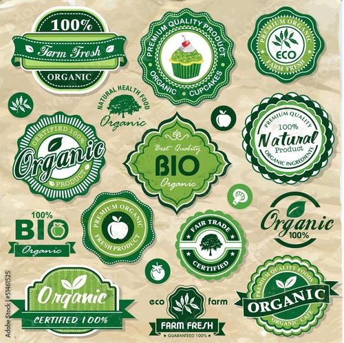 Collection of organic labels