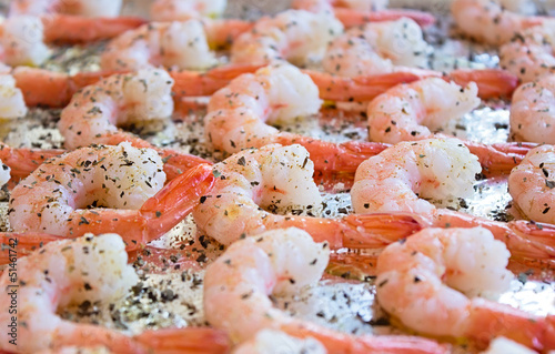 Cooked Shrimp with Herbs