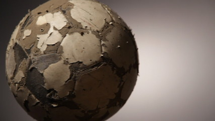 Old soccerball, seamless rotation