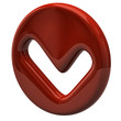 Red tick sign icon
