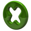 Green cross mark icon