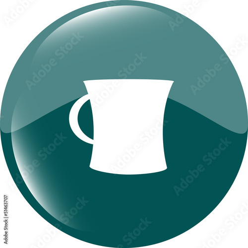 coffee cup button icon