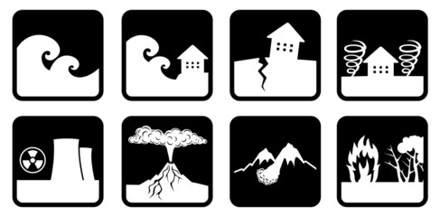 Natural disasters and catastrophes icon