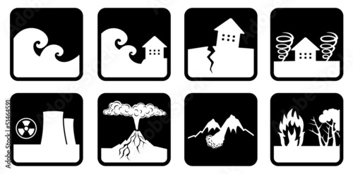 Natural disasters and catastrophes icon - 51464591