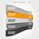 grey and orange perspective infographic with options