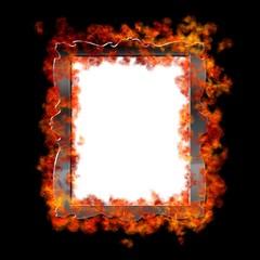 Burn frame.