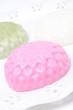 Raspberry Panna cotta closeup