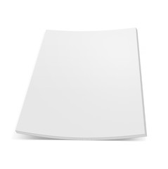 close up  stack of papers with curl on white background