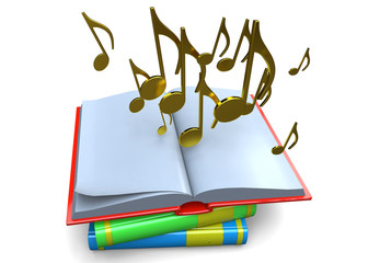 BOOK AND MUSIC - 3D