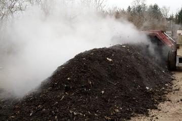 Kompostbearbeitung in Anlage
