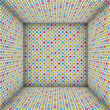 3d sound - system mosaic square tiled empty space