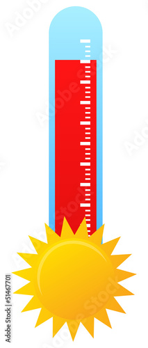 Thermometer Indicating Hot Summer Weather