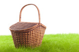 Picnic basket on the grass