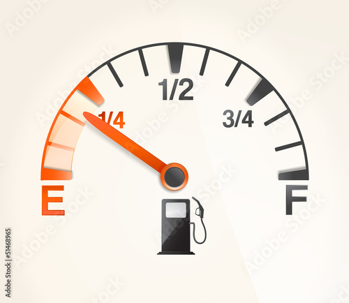 gas tank with empty horizontal full signs