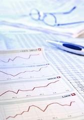 Aktienkurse in der Tageszeitung